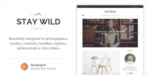 Stay Wild - A Clean Lifestyle Blog & Shop Theme