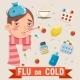 Cold Flu Disease Illness Sickness Medicine Flat - GraphicRiver Item for Sale