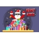 Happy Secret Santa Claus Shopping Pile of Goods - GraphicRiver Item for Sale