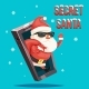 Secret Santa Claus Gift Bag Christmas New Year - GraphicRiver Item for Sale