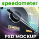 Realistic Speedometer or Gauge Set Mockup