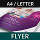 Yoga and Wellness Flyer