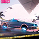 Synthwave Flyer v8 Cyberpunk Vice City Retrowave Poster - GraphicRiver Item for Sale
