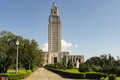 Blue Skies at the State Capital Building Baton Rouge Louisiana - PhotoDune Item for Sale