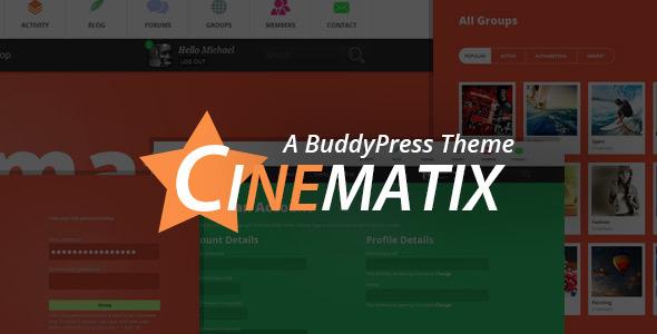 Cinematix - BuddyPress Community Theme - BuddyPress WordPress