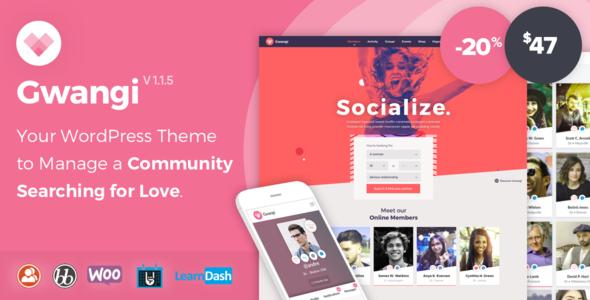 Gwangi - Dating & Matchmaking Community Theme