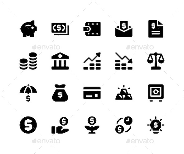 Financial Glyph Icons - Icons