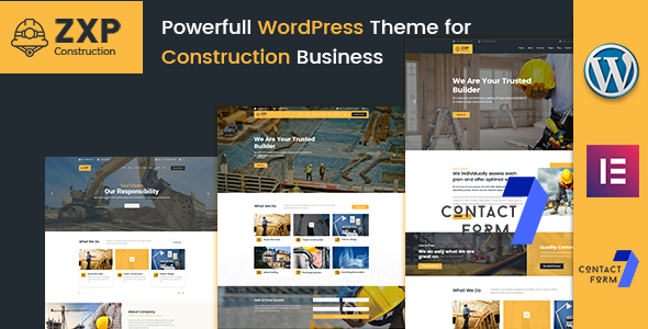 ZXP - Construction Building Company WordPress Theme - Business Corporate