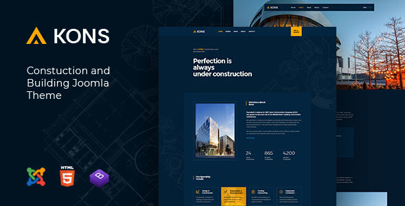 Kons - Construction and Building Joomla Theme - Business Corporate