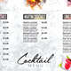 Cocktail Drinks Menu - GraphicRiver Item for Sale