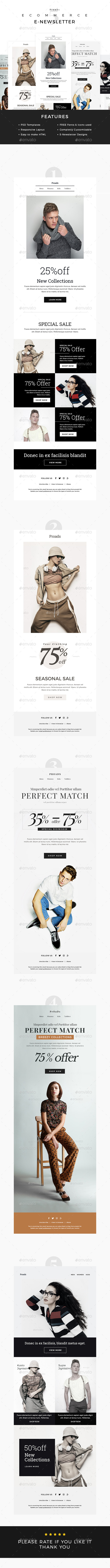 Pro E-Commerce Newsletter Template - E-newsletters Web Elements
