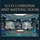 Sci-Fi Corridor and Meeting Room - 3DOcean Item for Sale