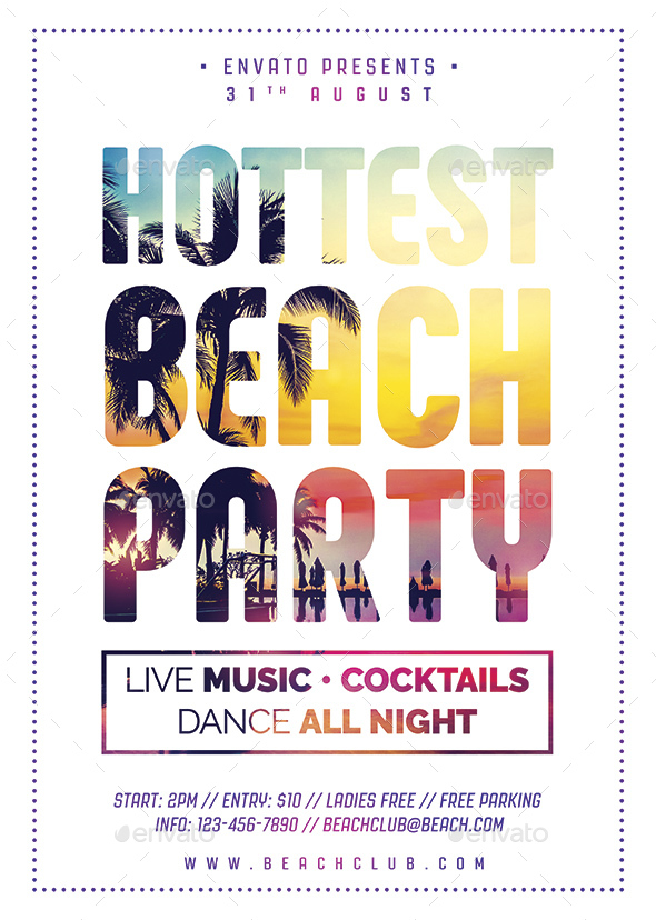Beach Party Flyer - Holidays Events