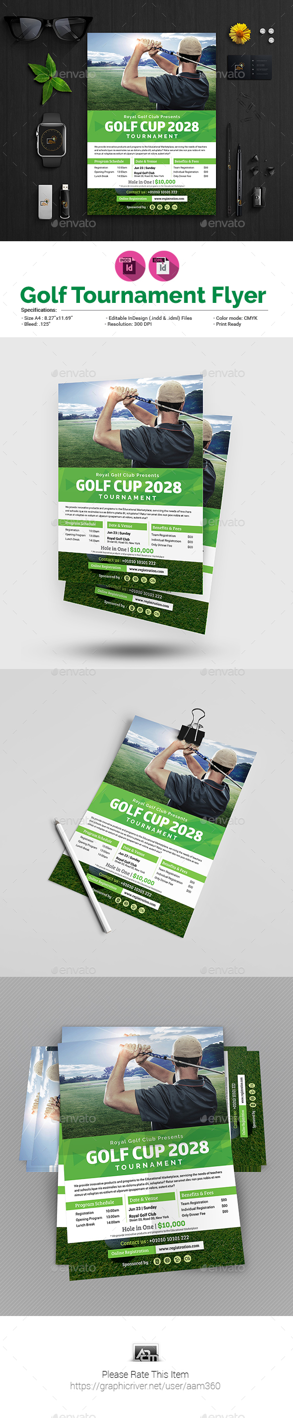 Charity Golf Tournament Flyer - Sports Events