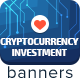 Cryptocurrency Investment Ad Banners - GraphicRiver Item for Sale