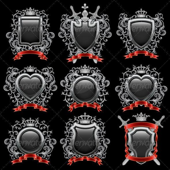 Coat of arms set - Decorative Symbols Decorative