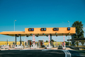 Cars Passing Through The Automatic Point Of Payment On A Toll Ro - PhotoDune Item for Sale