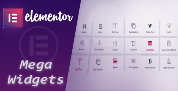 Mega Widgets for Elementor            Nulled