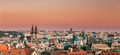 Prague, Czech Republic. Panoramic View Of Cityscape In Sunset - PhotoDune Item for Sale