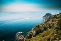 Tossa De Mar, Girona, Spain. Pleasure Touristic Boat Floating On - PhotoDune Item for Sale