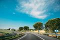 Beautiful Turn Of Asphalt Freeway, Motorway, Highway Against The - PhotoDune Item for Sale