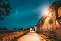 Spain. Old Barn And Houses In Spanish Village During Evening Or - PhotoDune Item for Sale
