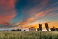 Catalonia, Spain. Spring Sunset Sky Above Spanish Countryside Ru - PhotoDune Item for Sale