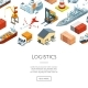 Vector Isometric Marine Logistics and Seaport