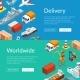 Vector Isometric Marine Logistics and Seaport Web