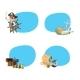 Vector Cartoon Sea Pirates Stickers