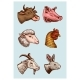 Farm Animal Heads - GraphicRiver Item for Sale