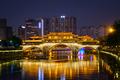Anshun bridge at night, Chengdu, China - PhotoDune Item for Sale