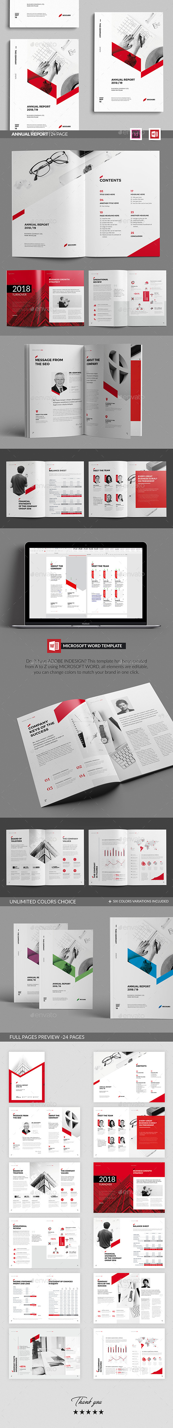 Sharp Annual Report - Brochures Print Templates