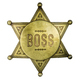 Isolated Vintage Boss Badge - PhotoDune Item for Sale