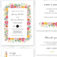 Floral Wedding Invitation Set - 4 - GraphicRiver Item for Sale