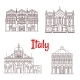 Italian Architecture Italy Landmarks Vector Icons
