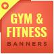 Gym & Fitness Banner Set - GraphicRiver Item for Sale