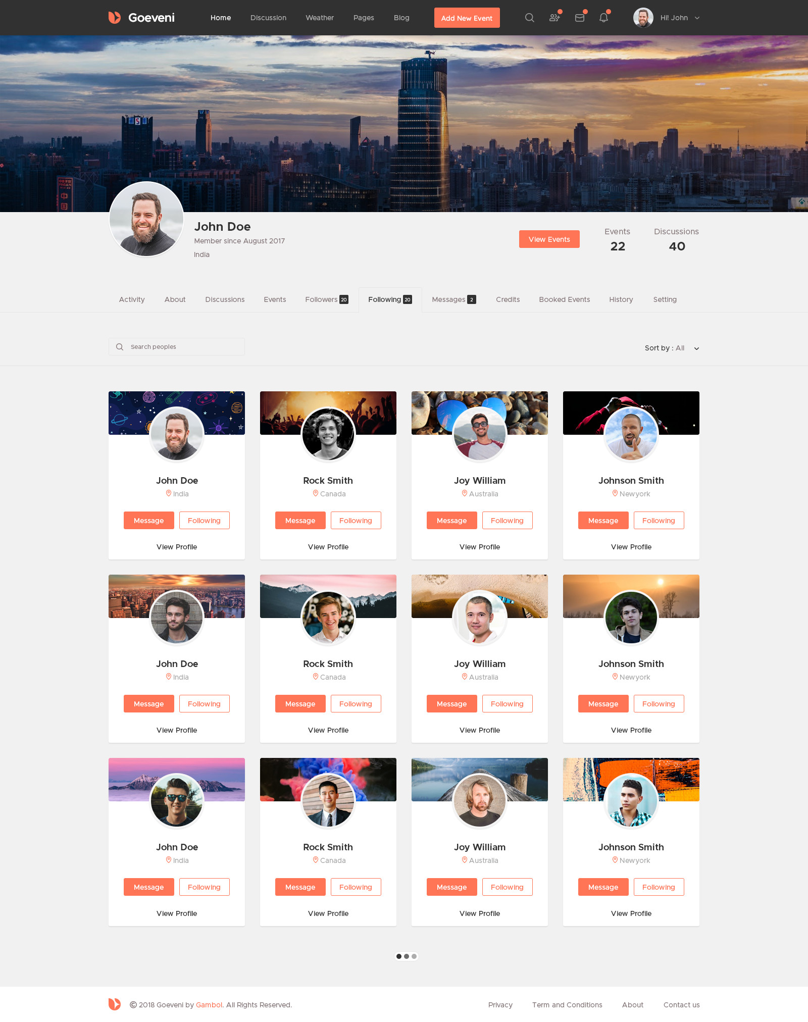 Goeveni event sharing social network psd template by gambol goeveni event sharing social network psd template maxwellsz