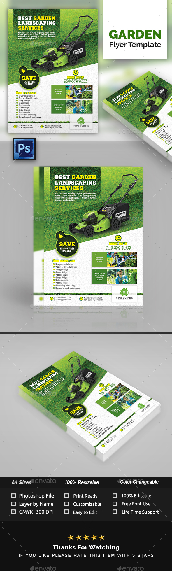 Garden Landscape Flyer Template By Creative Touch Graphicriver