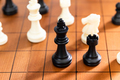 Chess pieces on wood chessboard - PhotoDune Item for Sale