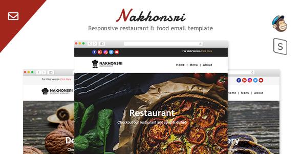 Nakhonsri - Responsive Restaurant & Food  Email Template by MaximusTheme