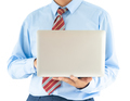 Businessman holding a laptop with clipping path 10 - PhotoDune Item for Sale