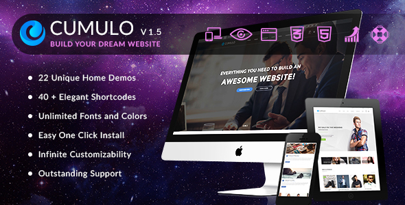 Cumulo - Responsive Multi Purpose WordPress Theme