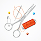 Realistic Detailed Sewing Craft Concept - GraphicRiver Item for Sale