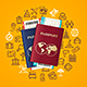 Travel and Tourism Concept Card with Passport - GraphicRiver Item for Sale