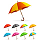 Realistic Detailed Color Umbrella Set - GraphicRiver Item for Sale