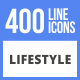 400 Lifestyle Filled Line Icons