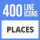 Free Download 400 Places Filled Line Icons Nulled