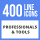 400 Professionals & their tools Filled Line Icons