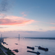 jiujiang cable-stayed bridge at dusk - PhotoDune Item for Sale